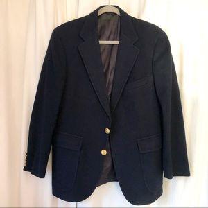 VTG Navy Polo University Wool Blazer